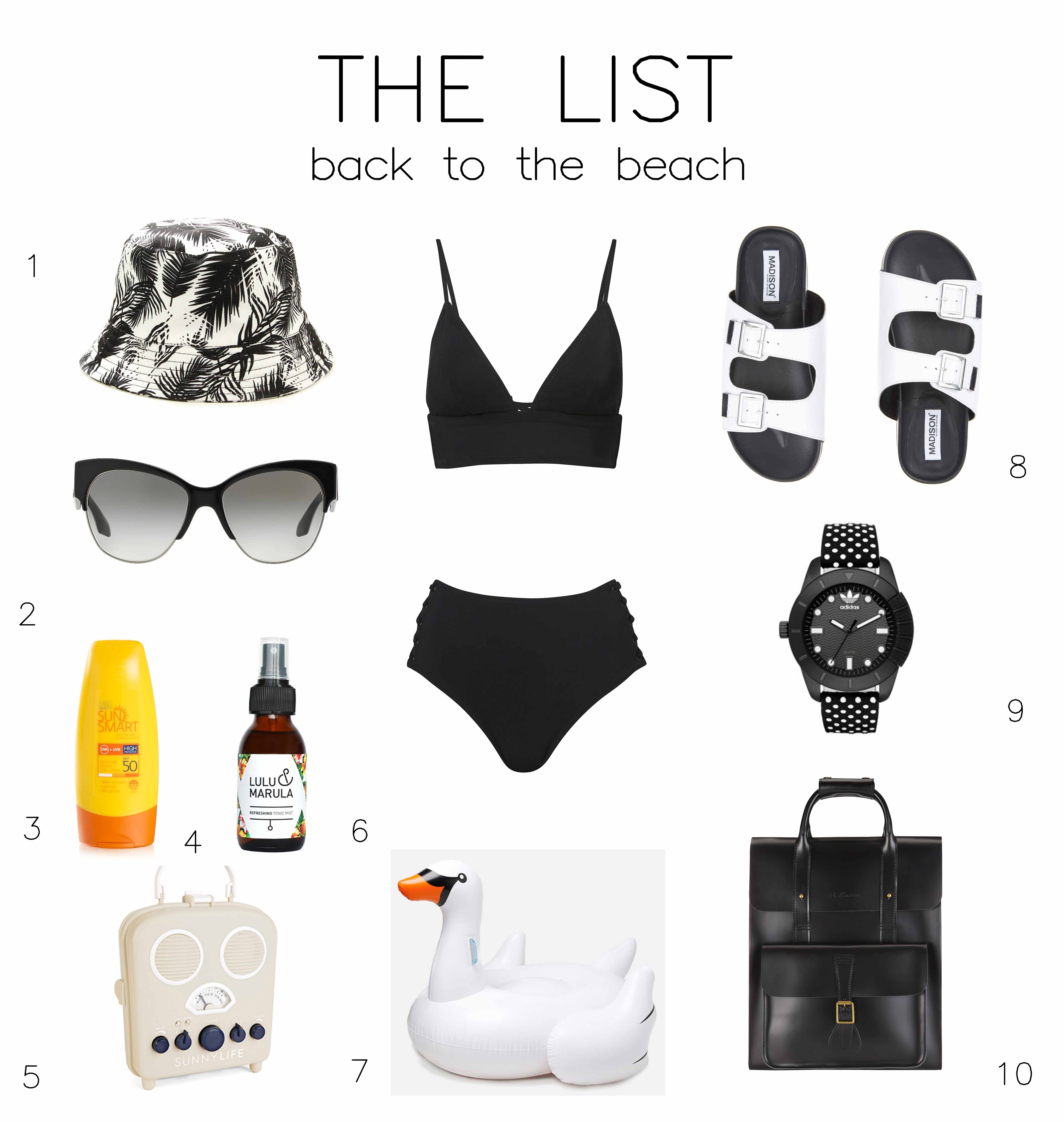 THE LIST Back to the Beach