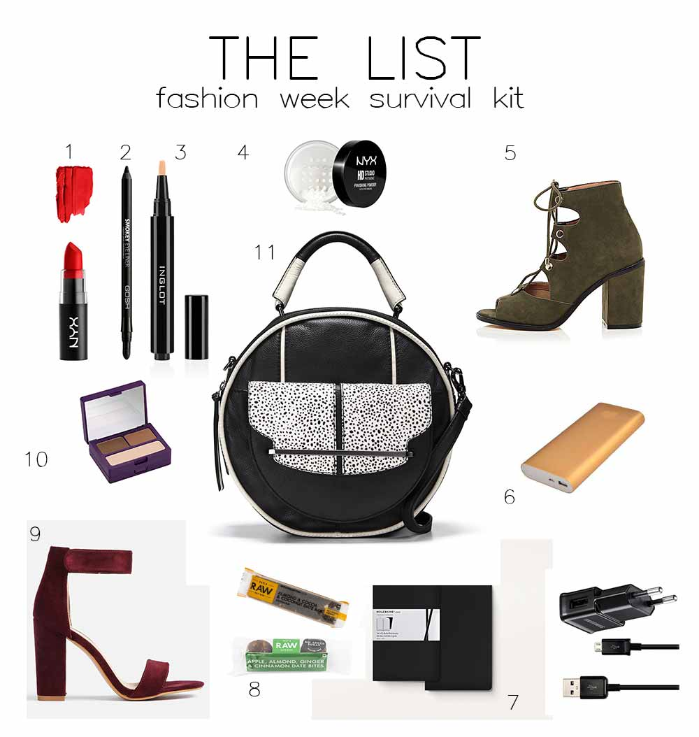 THE LIST: FASHION WEEK SURVIVAL KIT